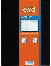 Exdi - 303001Q - Agenda Semainier MERCURE ML - Janvier à Décembre 2021 - Noir - 21 x 27 cm - Une semaine sur deux