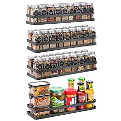 black metal wall mount shelves to hold spices