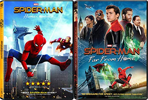 Things Move Fast In This Superhero Life: Spider-Man Homecoming + Spider-Man Far From Home 2 Movie SUPER Spidey Bundle MCU Classics