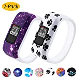 Vozehui Compatible with Garmin Vivofit 3/Vivofit JR/Vivofit JR 2 Bands , Colorful Soft Silicone Replacement Sport Wristbands for Kids Boys Girls Men Women, Small Large