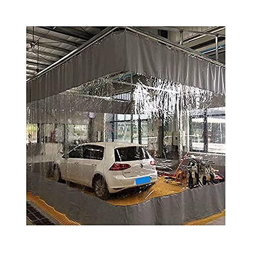 SHIJINHAO Cortina De Lona Transparente Al Aire Libre, Panel De PVC para Ojales, Costura De Cortinas De Privacidad De Partición, Usado para Fábrica, Granja Personalizable