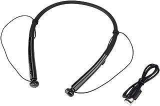 Socobeta Trådlöst halsband headset bluetooth sport hörlurar med magnetiskt lås vattentät svetttät dammtät (svart)