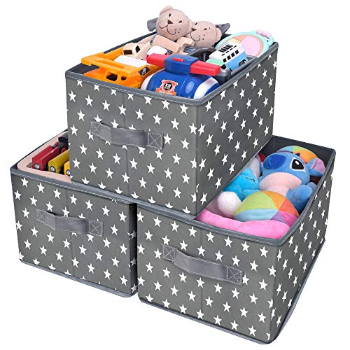3-Pack Fabric Storage Bins for Closet Organization, Cute Star Pattern $13.19 (40% OFF)