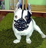 Maulkorb für Französische Bulldogge, leichtes Leder FB2