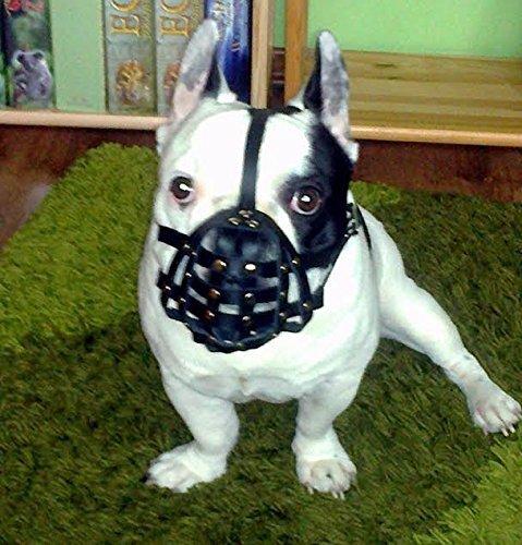 Luz Bozal para perro de piel para Bulldog francés 'frenchies