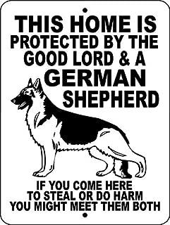 German Shepherd Dog Sign 8x12 Inch Aluminum Metal Sign