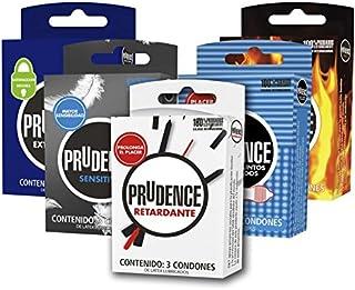 Pack Paquete 15 Condones Condon Prudence Combinados Preservativos