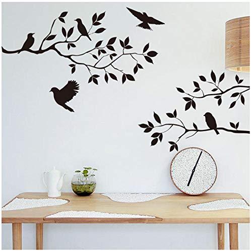 Zhaoyangeng Afneembare vogel boom muursticker vinyl kunst wandlamp Home DIY decoratieve tak tak tak muurschildering behang
