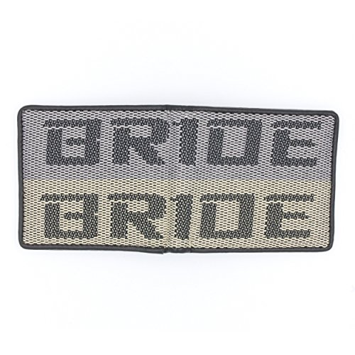 Kei Project Bride Racing Wallet Seat Fabric Leather Bi-fold Gradation (Gray/Tan)