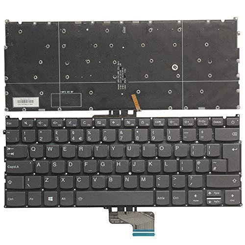 YUHUAI - Teclado de repuesto para ordenador portátil Lenovo Ideapad 720S-13 720S-13IBR 720S-13AST UK Layout Backlight