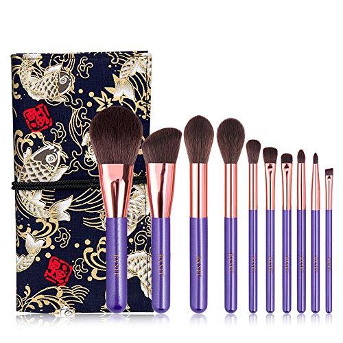 NCTM Maquillage Violet Brosse de 10 Retro Pinceau Blush Doux Uniforme Cadeau High Gloss Pinceau bronzante Tissu Portable Durable