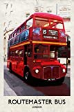 Londres Routemaster Bus Retro Póster tarjeta de felicitación