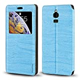 Schutzhülle für Nokia 8110 4G, Holzmaserung, Leder, mit Kartenhalter & Fenster, magnetisch, für Nokia 8110 4G