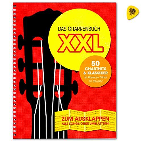 Das Gitarrenbuch XXL - 50 Charthits and Klassiker - Songbook für klassiscge Gitarre mit Tabulatur und Plek - Bosworth Edition BOE7892 9783865439871