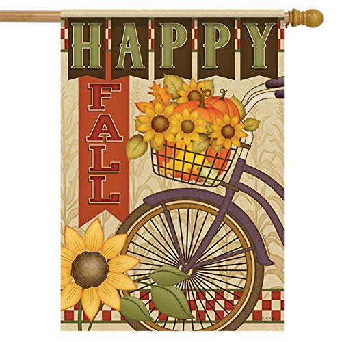 Carson Vlag - Bountiful Fiets House - 28 Inches x 40 Inches