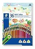 STAEDTLER 187 CD36 Noris Colour Buntstift, erhöhte Bruchfestigkeit, Dreikantform, attraktives...