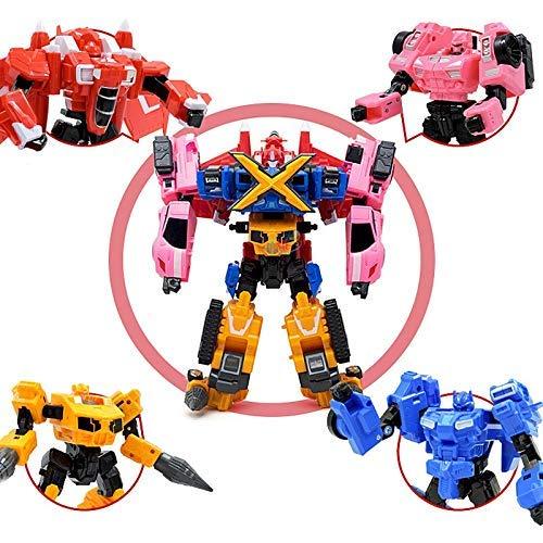 LIUCHANG Decoración de Escritorio deformación deformado Juguete Coches de Juguete Robot de Juguete del niño del Conjunto de Juguete (Color: Naranja) liuchang20 (Color : Blue)