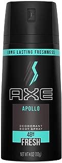 AXE Body Spray for Men Apollo 4 oz (Pack of 2)
