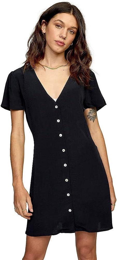 RVCA Long Beach Mall Women's Avery Woven Cash special price Dress Short Sleeve