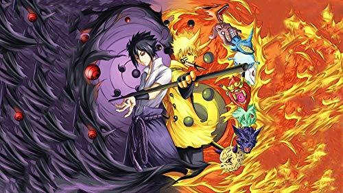 KDNM Puzzle Naruto Anime Puzzle de 1000 Piezas, Puzzle para Adultos, Impossible Puzzle, Colorido Juego de Habilidades para Toda la Familia, Puzzle para adultos75x50cm