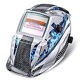 Careta de Soldar, NASUM Casco de Soldadura Solar-Alimentado de Oscurecimiento Automático Máscara de Soldadores para MIG/TIG/MMA (Azul)