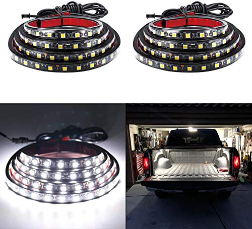 LivTee 2Pcs 60' White LED Cargo Truck Bed Light Strip Lamp Waterproof Lighting...