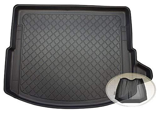 ZentimeX Z3117057 Gummierte Kofferraumwanne fahrzeugspezifisch + Klett-Organizer (Laderaumwanne, Kofferraummatte)