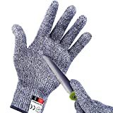 Apaffa Cut Resistant Gloves High Performance Level 5 Protection for Kitchen, Premium Durable Safety Anti Cutting Gloves for Mandolin Slicing, Meat Cutting,Wood Carving,1 Pair (Medium)