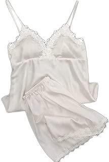 LANSKRLSP Camicie da Notte per Donna Camicie da Notte Camicie da Notte Camicetta da Notte in Raso Camicia