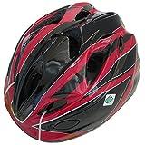 SAGISAKA(サギサカ) 自転車 ヘルメット ジュニアヘルメット スタンダードモデル Mサイズ ブラック/レッド 88737