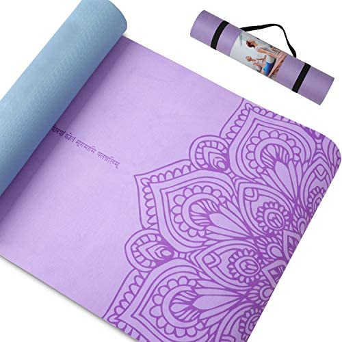 Pido Print Yoga Mat 7mm Extra Thick Non Slip Yoga Mat for Women Men Eco Friendly Suede TPE Fitness product image
