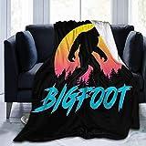 Retro 80s Bigfoot Sasquatch Throw Blanket Ultra-Soft Micro Fleece Manta Manta de películas para Cama Sofá Sala de Estar