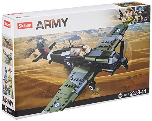 Sluban SL95582, WWII - Brit. Jagdflugzeug (297 Teile) [B0712], Spielset , Klemmbausteine, Soldaten, mit Spielfigur, Army WWII
