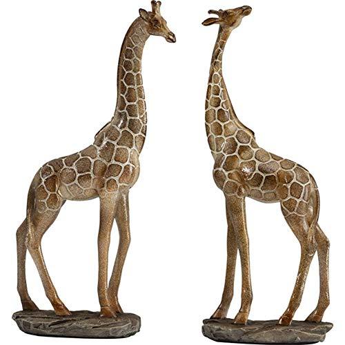 LYTBJ Giraffe Skulptur, Simulation Dekoration Skulptur Statue Geschenk Dekoration Innendekoration Büro Desktop Resin Crafts 2PCS