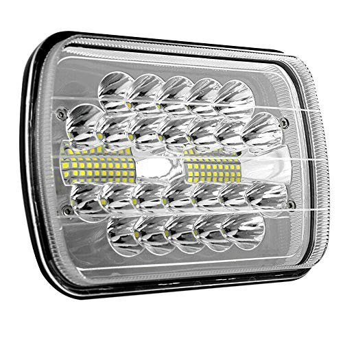 Nrpfell 150W 7X6inch 5X7inch LED Headlight DRL for Cherokee XJ W250 D350