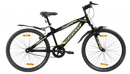 Hercules Top Speed-FX100 26T Single Speed Adult Cycle(Matt Black/Yellow)