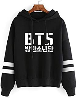 AMOMA Unisex BTS New Album Love Yourself Hoodies BTS World Tour Sweatshirt Bangtan Boys Pullover