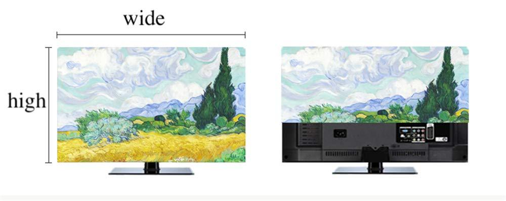 LJXX TV Cubierta 19-80 Pulgadas LCD TV Cubierta Decorativa Cortina ...