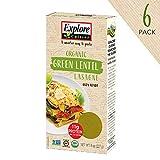 Explore Cuisine Organic Green Lentil Lasagne (6 Pack) - 8 oz - High Protein, Gluten Free Pasta, Easy...