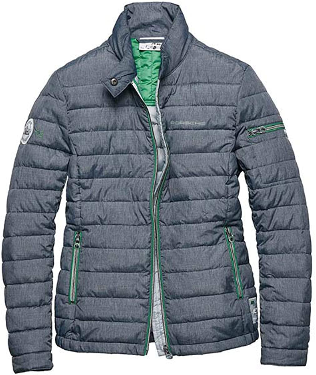 Porsche Driver's Selection Women's Quilted Auto Sports Jacket Gray
