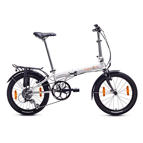 Dahon Speed D8 Bicicleta Plegable, Unisex Adulto, Blanco Cloud, 20""