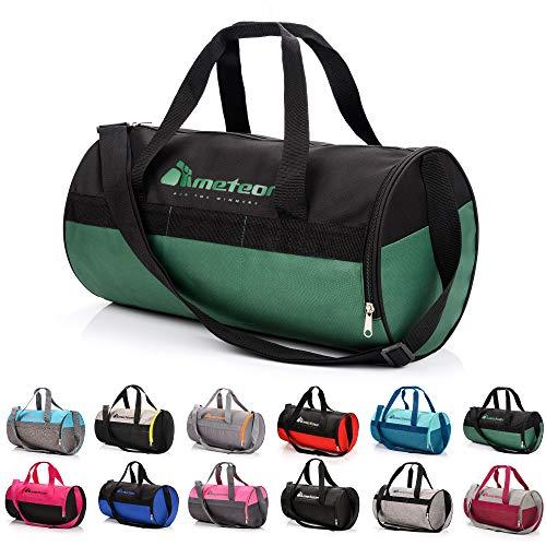 meteor Sporttasche Kinder 25L runde Tasche Gym Tasche Herren schwimmtasche Reisetasche Urlaubstasche klein Fitnesstasche Kindertaschen Schule-Taschen turntasche Jungen
