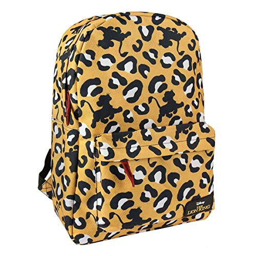 Artesania Cerda Mochila Escolar Instituto Lion King  Unisex Adultos  Amarillo    12x44x30