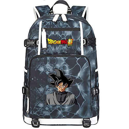 ZZGOO-LL Dragon Ball Son Goku/Vegeta IV/Torankusu Anime Backpack Middle Student School Rucksack Daypack for Women/Men with USB-F