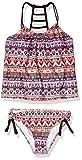 Next Girls' Ladder Back Tankini Top & Tubular Bikini Bottom Swimsuit Set, Daylight Daze Coral, 10