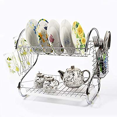 US Fast Shipment S-Shaped Dual Layers Dish Dryi...
