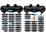 eXtremeRate 60 Pcs/Set Vinyl Reuseable Lighttight Led Light Bar Decals Stickers for Playstation 4 PS4 PS4 Slim PS4 Pro Remote Controller Skins