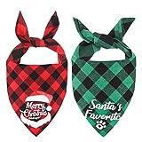 Weihnachts Hunde Bandana Kopftücher Hundehalstuch Dreieckstuch für Kleine, Mittelgroße und Große...