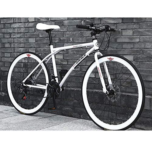 LWJPP 2020 Suspensión Nueva Bici de montaña de 26 Pulgadas Ruedas de radios 24 Full Speed MTB for Adultos Adolescentes Niña Niño Bicicletas con Robusta de Acero integradas (Color : B)