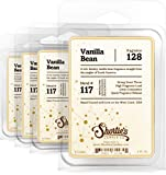 Shortie's Candle Company Vanilla Bean Wax Melts Bulk Pack - Formula 117-4 Highly Scented Bars - Made with Natural Oils - Bakery & Food Air Freshener Cubes Collection